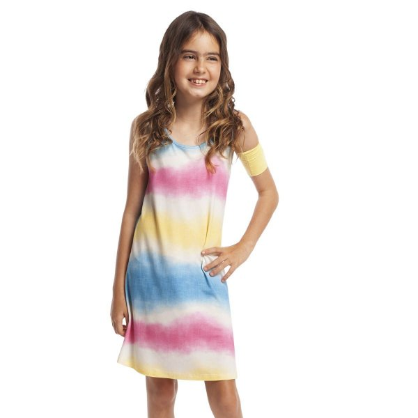 Camisola Infantil Curta Regata Ombrê Colors