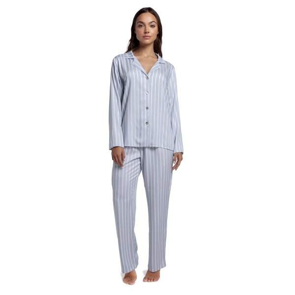 Pijama Feminino Aberto de Inverno Listra Blue