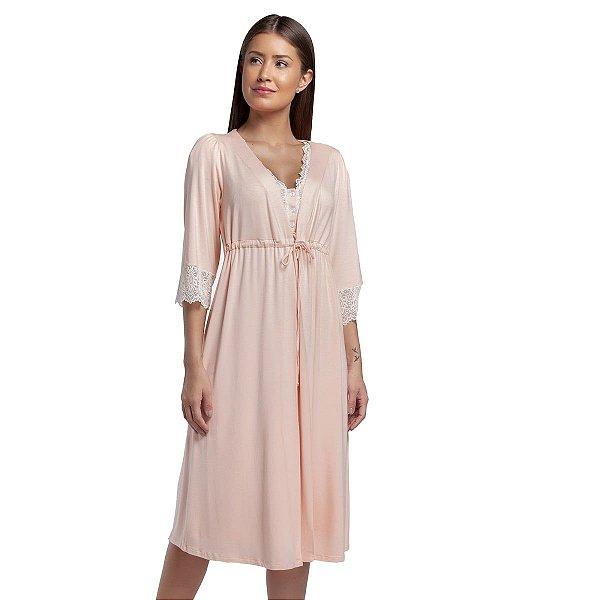 Robe Midi Rosa Bellini com Renda