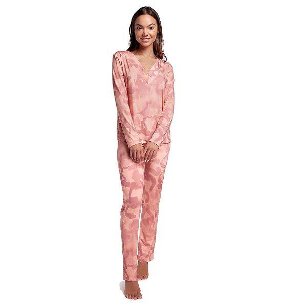 Pijama Feminino de Inverno Jaguar Rosê