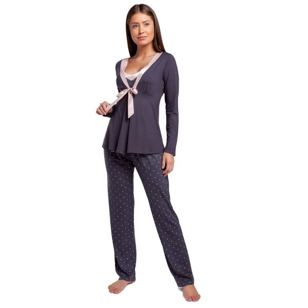 Pijama Feminino de Inverno Triplex Calcário Dots