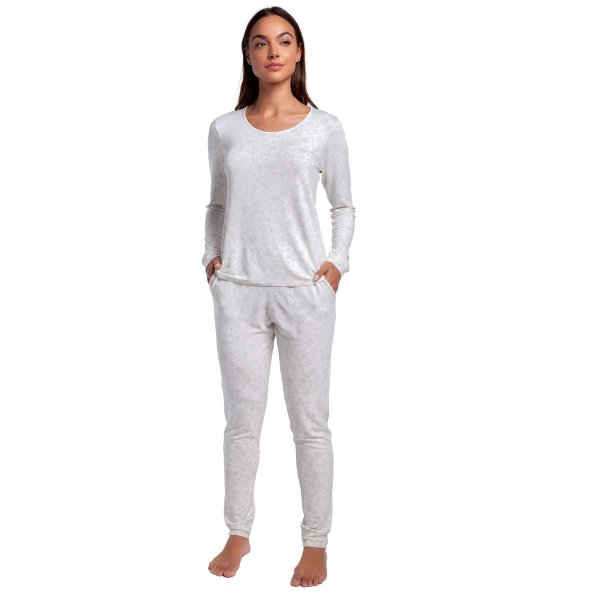 Pijama Feminino de Inverno Arabescos com Bolso