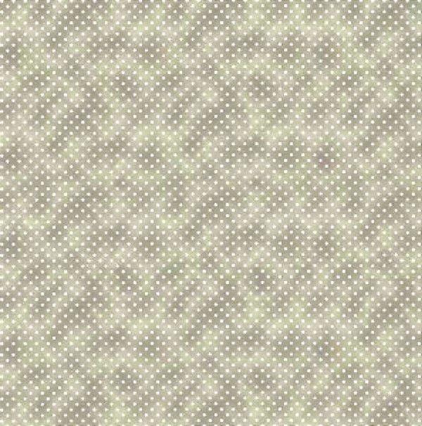 Tecido Tricoline Poá Branco c/ Poeira Cinza - Coleção Mini Elementos - (50 cm x 150 cm)