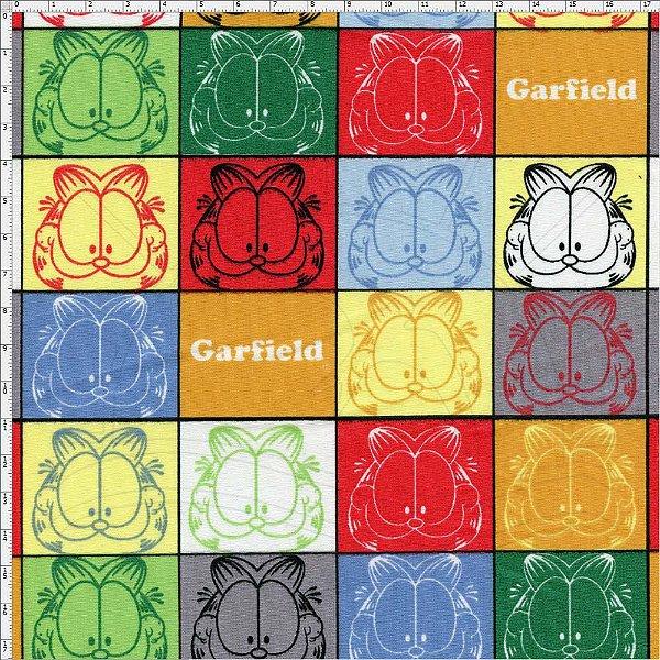5def54c43d Tecido Tricoline Garfield - Caricaturas Coloridas - Preço de 48 cm x 150 cm