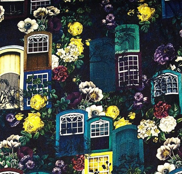 Tecido Digital - Jardim do Casarão - Corte Mínimo 50 cm x 150 cm