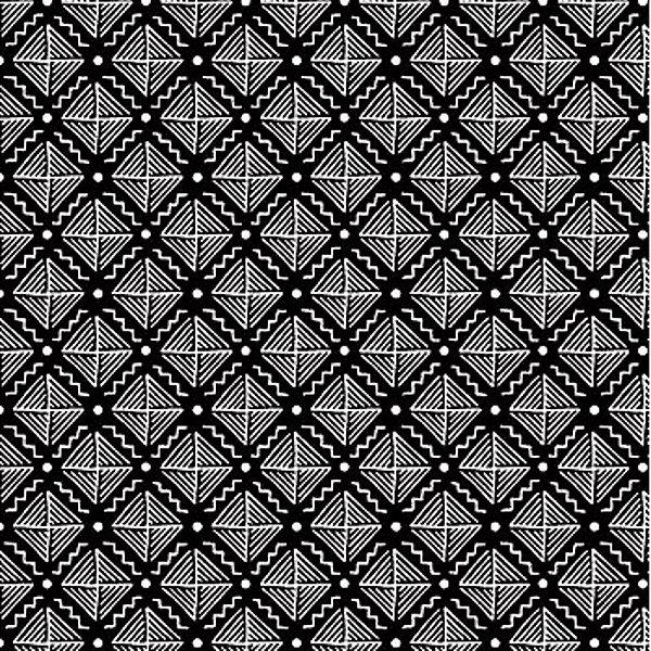 Tecido Tricoline com Estampa Listrada - Coleção Geométrico (Fundo Preto) - Preço de 50cm x 150cm