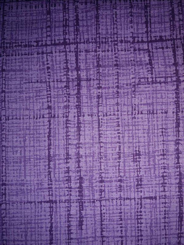 Tecido Tricoline Textura Riscada Roxo - Coleção Neutro Tom Tom - Preço de 50 cm x 150 cm