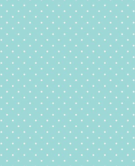 Tecido Tricoline Estampa Micro Poá Branco Fundo Azul Acqua - Preço de 50 cm X 146 cm