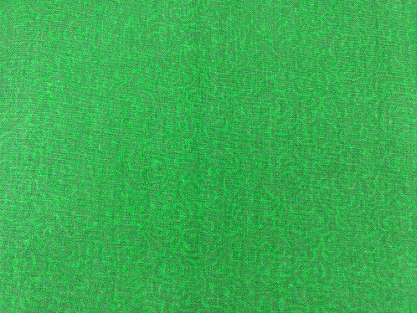 Tecido Tricoline  Estampa Arabesco Verde Escuro - Coleção Neutro - Preço de 50 cm X 150 cm