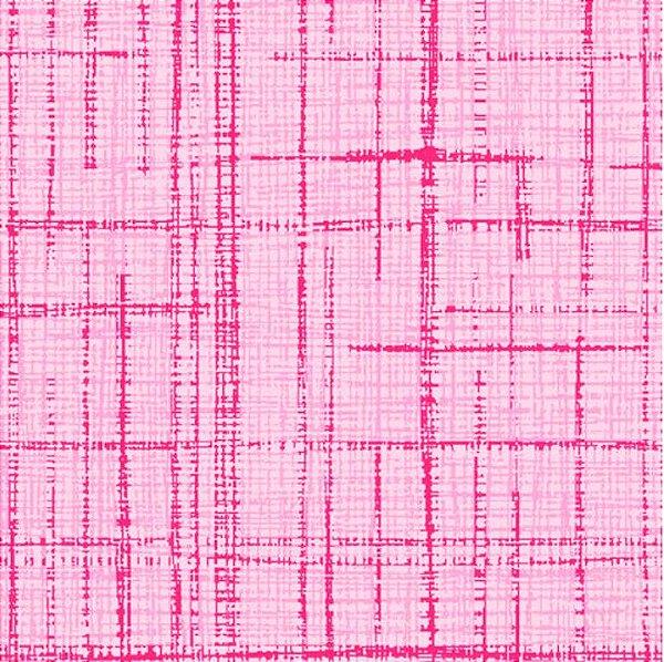 Tecido Tricoline Textura Riscada Rosa - Coleção Neutro Tom Tom - Preço de 50 cm x 150cm