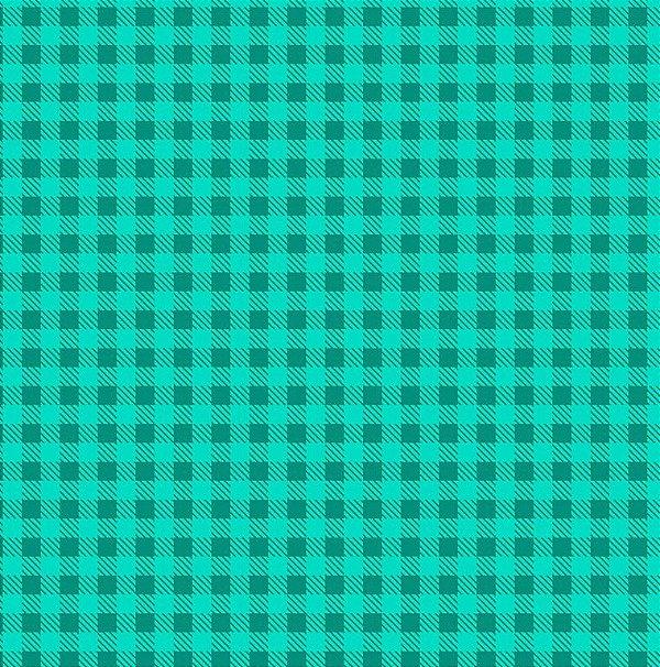 Tecido Tricoline Estampa Xadrez Verde Caribe - Preço de 50 cm x 150cm fb2bc38c497