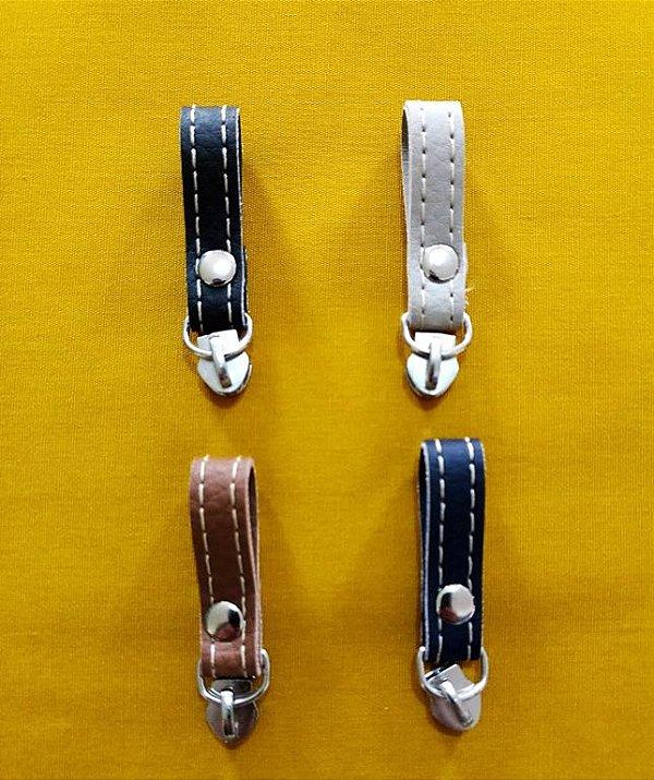 Cursor de Zíper Nº 5 - Mini Puxador em Couro