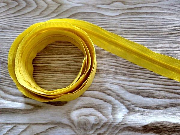 Zíper Grosso nº 5 (3 cm) - Amarelo - Preço de 50cm