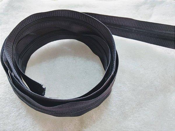 Zíper Grosso nº 5 (3 cm) - Cinza Chumbo - Preço de 50cm