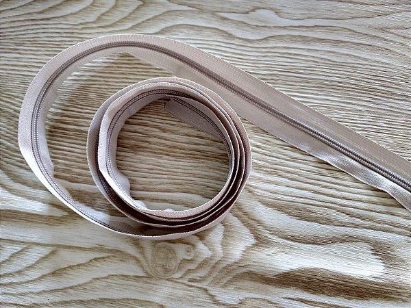 Zíper Grosso nº 5 (3 cm) - Bege Claro - Preço de 50cm