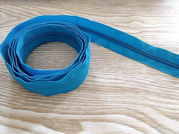 Zíper Grosso nº 5 (3 cm) - Azul Turquesa - Preço de 50cm