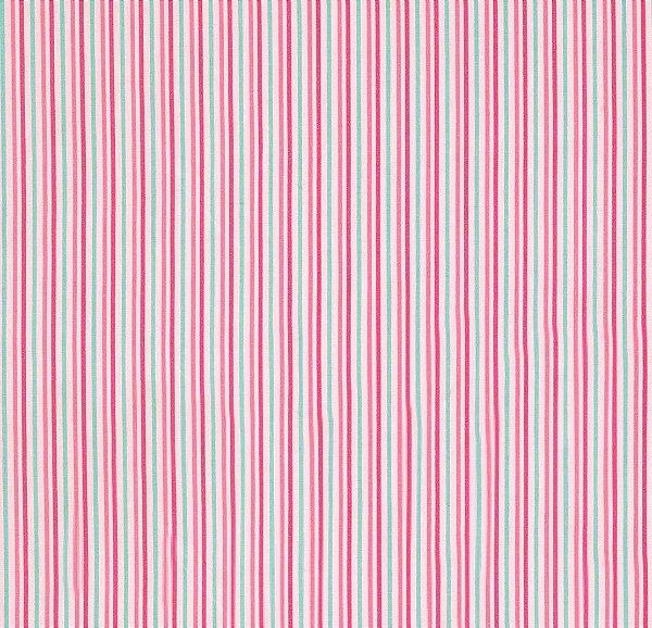 Tecido Tricoline Listrada Branco, Verde Água, Rosa Pink e Rosa Claro  - Preço de 50 cm X 150 cm