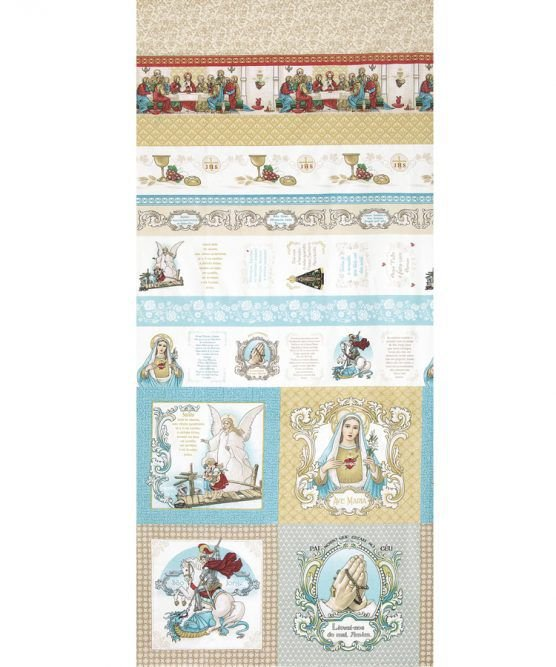 Tecido Tricoline Religioso - Preço de 63 cm X 150 cm