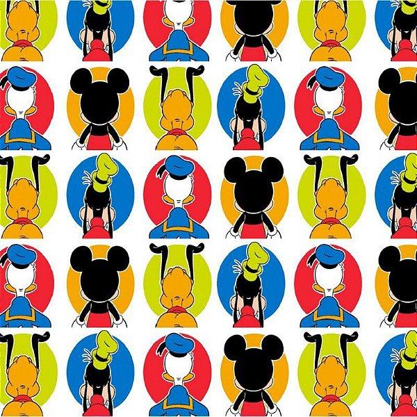 d8fb1405ef Tecido Tricoline do Mickey e Amigos - Coleção Disney - Preço de 50 cm x 150