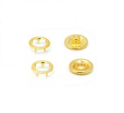 Botão de Pressão Eberle 7.095.35.L - 9,5mm - Dourado -  Valor de 10 unidades
