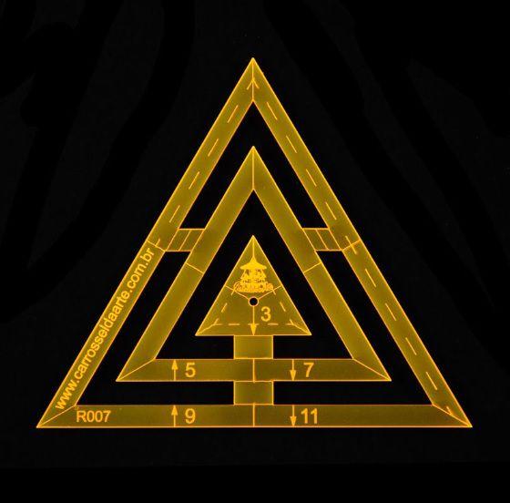 Régua para Patchwork Triângulo - 11cm