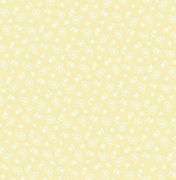 Tecido Tricoline Mini Cashmere Creme - Preço de 50 cm x 150 cm