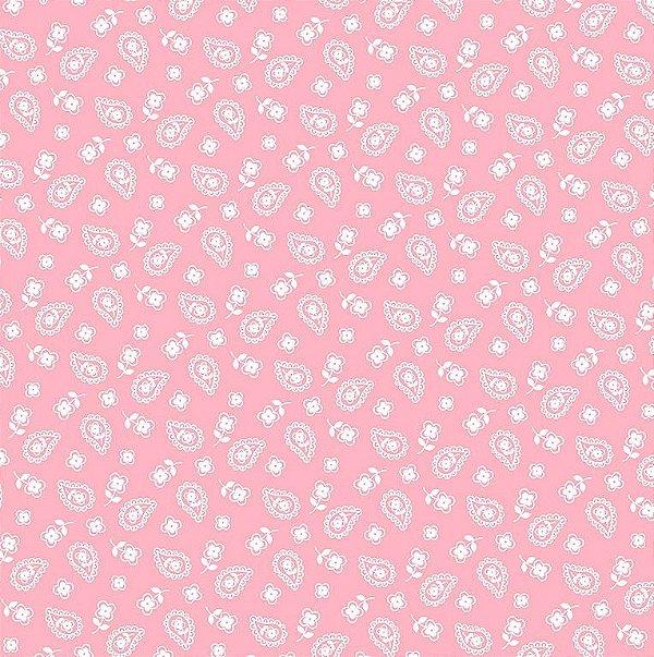 Tecido Tricoline Mini Cashmere Rosa Pink - Preço de 50 cm x 150 cm