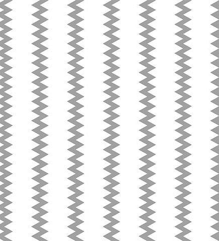 Tecido Linho Estampa Chevron Cinza - Fundo Cru - Preço de 50cm x 150cm