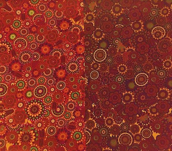Tecido Digital Sandias Faixas Degradê Marrom - Preço de 50 cm x 150 cm