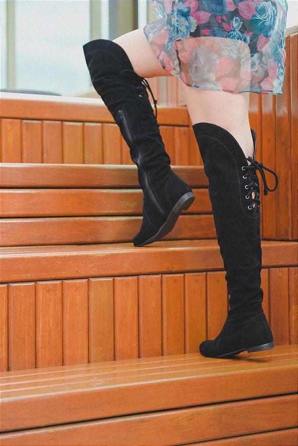 Bota Botinha Cano Alto Coturno Over The Knee Ana Amaral Moda Inverno 2020