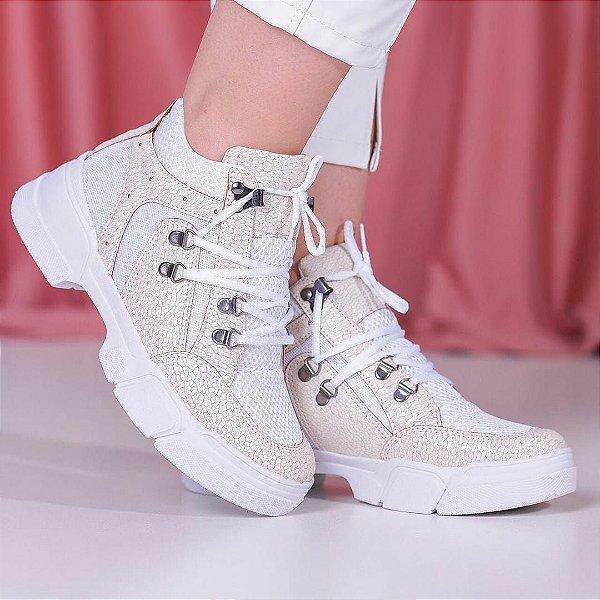Tênis Cano Alto Botinha Sneakers Chunky Feminino Kasual Várias Cores Lançamento 2020 Inverno
