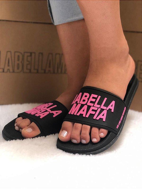 Chinelo Sandália Feminina Slide Tira Larga La Bella Mafia LaBellaMafia Lançamento 2020 Várias Cores