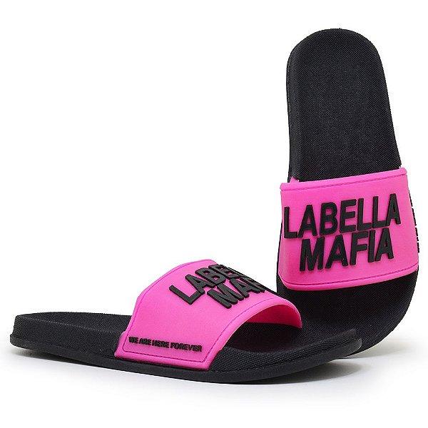 Chinelo Feminino Labellamafia Slide - Rosa/Preto