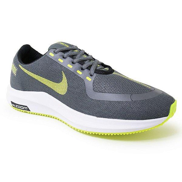 Tênis Masculino Caminhada Esportivo Nike Zoom - Cinza/Verde