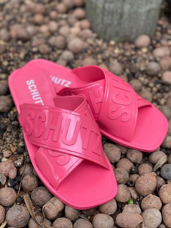 Sandália Feminina Rasteirinha Slide Schutz Jellys - Pink