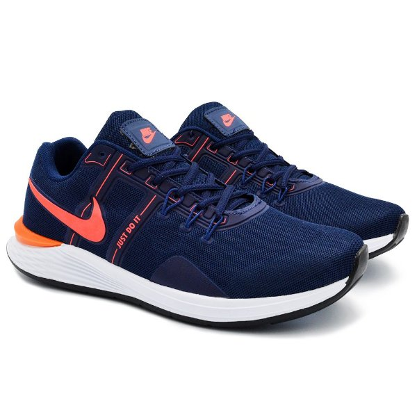 Tênis Masculino Nike Just Do It Lançamento 2021 - Marinho/Laranja