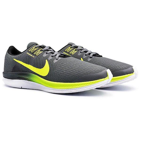 Tênis Masculino Caminhada Esportivo Nike Air Zoom Dynamic - Grafite/Verde
