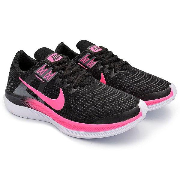 Tênis Feminino Caminhada Esportivo Nike Air Zoom Dynamic - Preto/Rosa