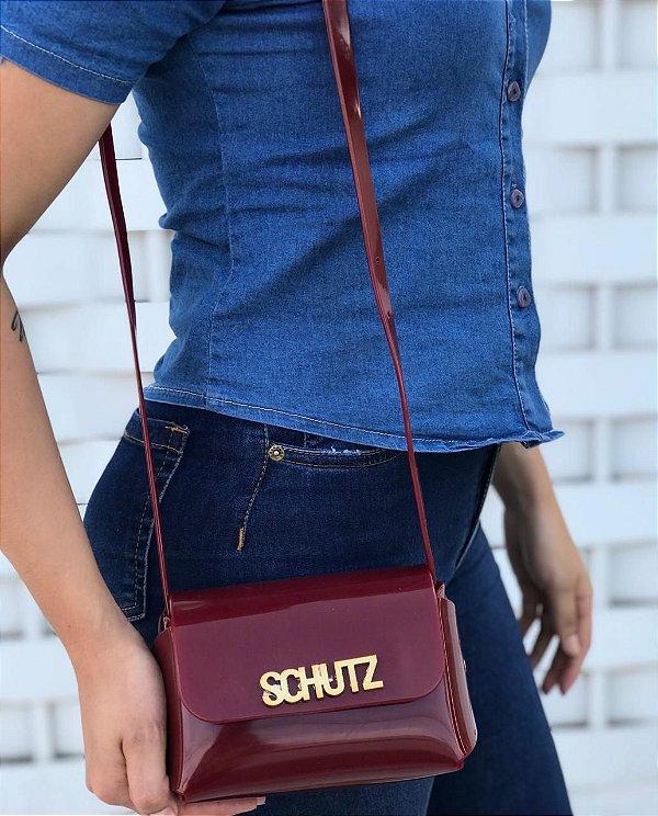 Bolsa Feminina de Ombro Schutz Mini Cross Bag - Bordô