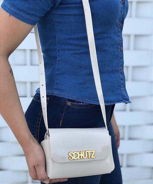 Bolsa Feminina de Ombro Schutz Mini Cross Bag - Bege