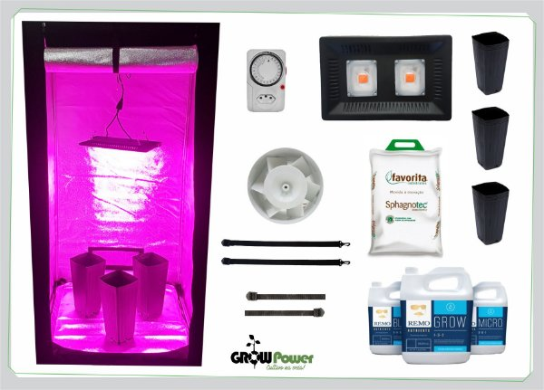 KIT LED EASY TO GROW 80x80x160 - 100w 110v