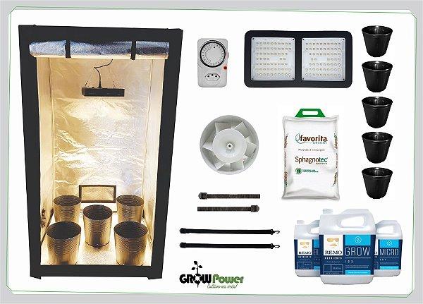 KIT LED EASY TO GROW 100x100x180 - 120w Quantum Board Bivolt