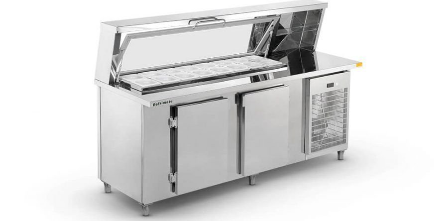 Balcão de Serviço Refrigerado Codimentador Top 2000 BSRC