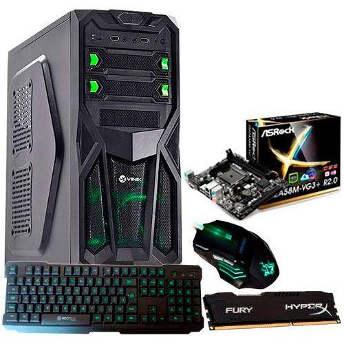 Cpu Gamer Pc Amd A6 7400 4.0 Ghz Radeon R5 Hd 320 Fonte 500w