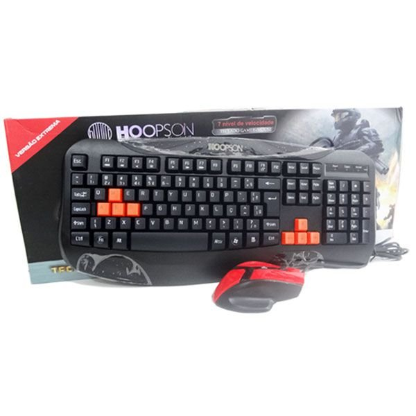 Teclado Hoopson gamer+mouse TPC-038