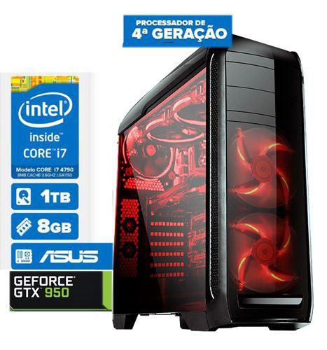 Pc Gamer blucase Cpu Intel I7 4790 8gb 1tb Geforce Gtx 1050 2GB DDR5