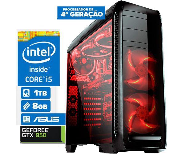 Computador Gamer Cpu Intel I5 4460 8gb 1tb Geforce Gtx 1050  2GB DDR5