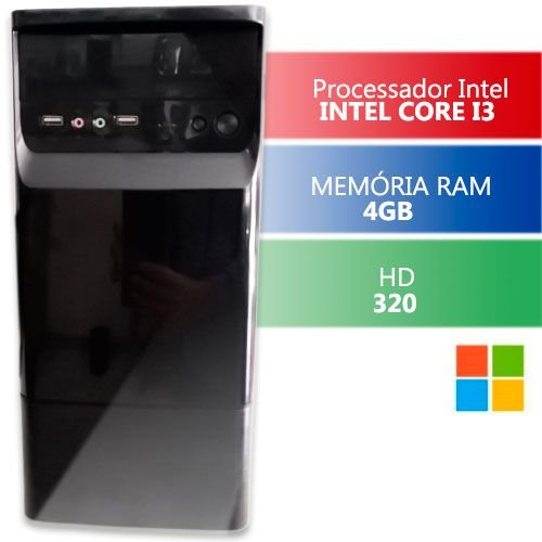 Computador Desktop Infoteclan Intel Core I3 4gb Hd 320gb