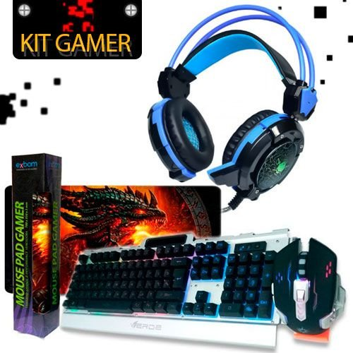 kit Gamer Headfone Soldado GH - X30+TECLADO+ MOUSE PAD