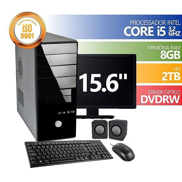 Computador infoteclan  Core I5 8gb Ddr3 2tb Dvd Win Mon 15 Kit BUSINESS DESKTOP